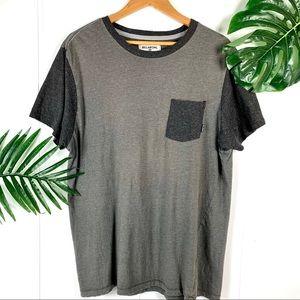 BILLABONG Men's Gray Two Toned Pocket T Shirt XL
